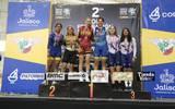 Mariana Arras obtuvo su segunda medalla de oro en la prueba de madison, junto a su compañera Nicole Córdova./Foto: Cortesía